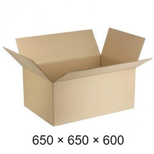 Картонная коробка Т-22 - 650 × 650 × 600 / объем 65 кг