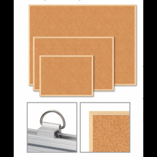 Доска пробковая JOBMAX, 60x90см, деревянная рамка