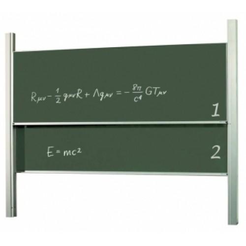 2х3 Доска академическая, 120x300, ротационная, STKK1230P3, для мела/мела