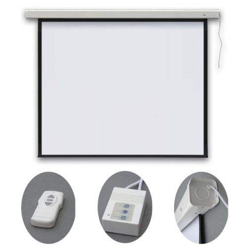 Экран настенный электрический PROFI electric 240x240, EEP2424