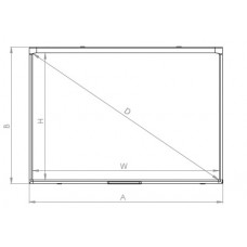Доска настенная интерактивная 2x3 ésprit DT, сенсорная, два касания технология оптическая; керамическая, магнитная поверхность для письма маркерами 111,7x81,5 / 50 ''