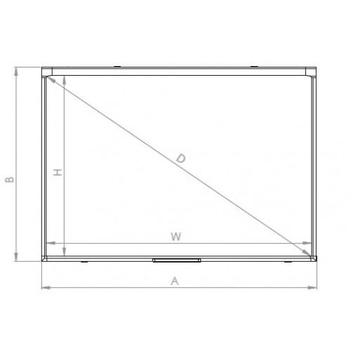 Доска настенная интерактивная 2x3 ésprit DT, сенсорная, два касания технология оптическая; керамическая, магнитная поверхность для письма маркерами 174,5х123,3 / 80