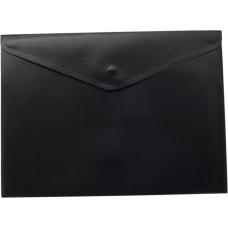 Папка-конверт А5 на кнопке, черный