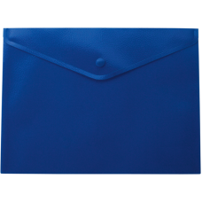 Папка-конверт А5 на кнопке, синий