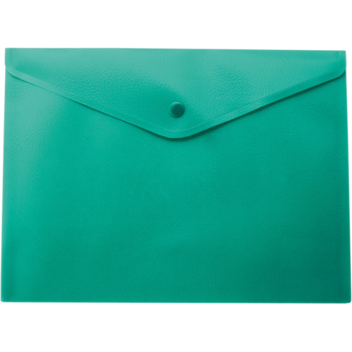 Папка-конверт А5 на кнопке, зеленый
