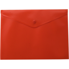 Папка-конверт А5 на кнопке, красный