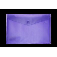 Папка-конверт А5 на кнопке, фиолетовый