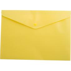 Папка-конверт А5 на кнопке, желтый