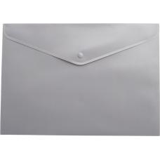 Папка-конверт А5 на кнопке, серый