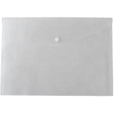 Папка-конверт А5 на кнопке, прозрачная
