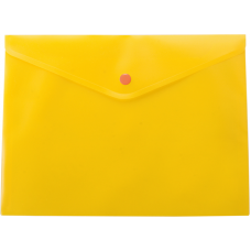 Папка-конверт А5 на кнопке, полупрозрачная, желтый