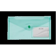 Папка-конверт на кнопке, DL TRAVEL, зеленый