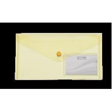 Папка-конверт на кнопке, DL TRAVEL, желтый