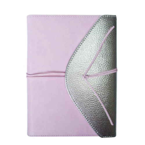 Ежедневник датированный 2019 BELLA, A5, 336 стр., св.-розовый с серебром