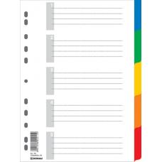 Цифровой индекс - разделитель А4, 1-5, цветной, с листом описи