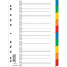 Цифровой индекс - разделитель А4, 1-10, цветной, с листом описи