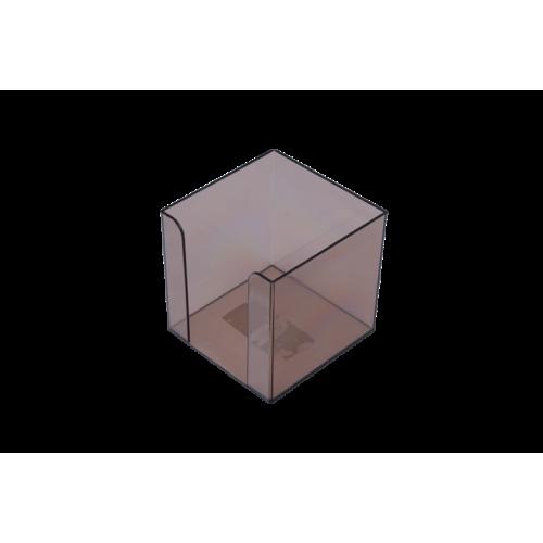 Бокс для бумаги 90х90х90мм, JOBMAX, дымчатый
