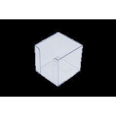 Бокс для бумаги 90х90х90мм, JOBMAX, прозрачный