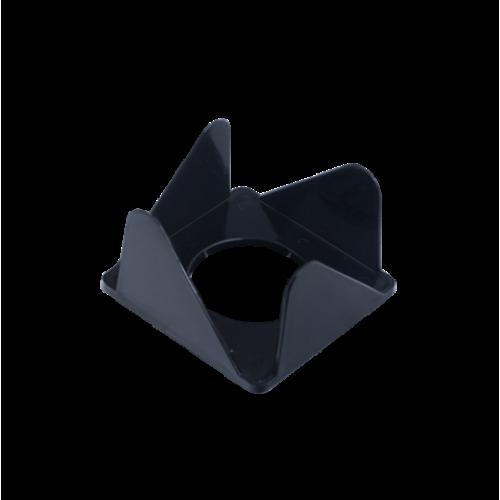 Бокс для бумаги 80х80х45мм, JOBMAX, черный