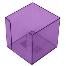 Бокс для бумаги, 80 х 80 х h45мм, фиолетовый
