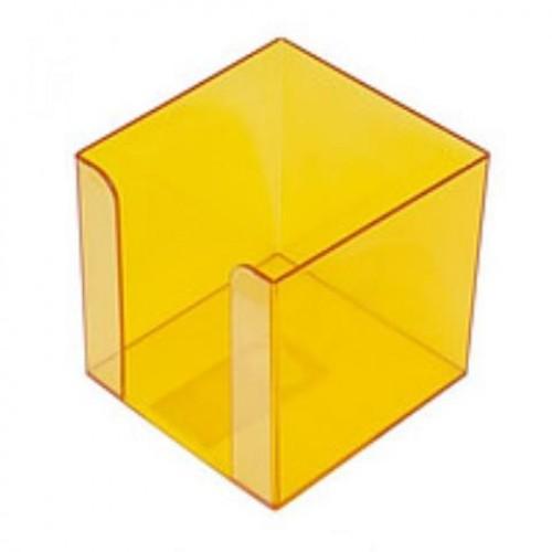 Бокс для бумаги, 80 х 80 х h45мм, желтый