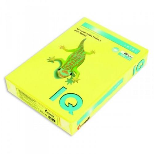 Бумага цветная интенсив А4, 500 листов, желтый