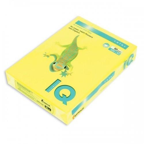 Бумага цветная неон А4, 500 листов, желтый