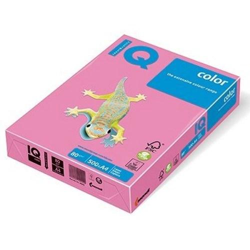 Бумага цветная неон А4, 500 листов, розовый