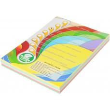 Набор цветной бумаги пастель, А4, (5 цветов по 50 листов, 250 листов)