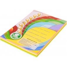 Набор цветной бумаги неон, А4 (4 цвета по 50 листов, 200 листов)