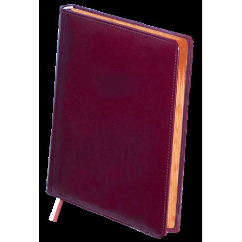 Ежедневник недатированный BOSS, A4, бордовый