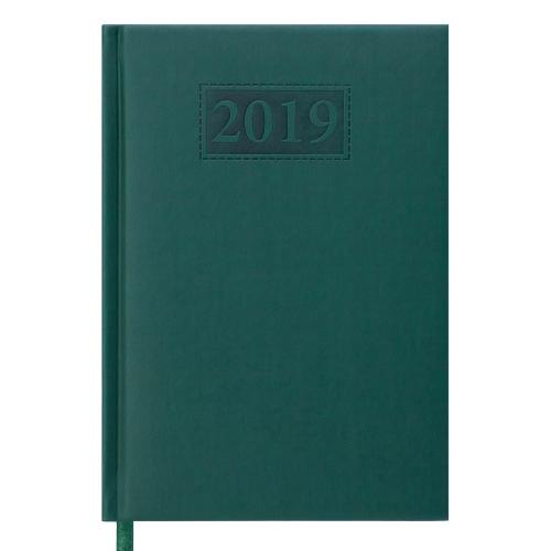 Ежедневник датированный 2019 BRAVO (Soft), A5, зеленый