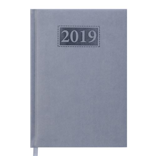 Ежедневник датированный 2019 GENTLE (Torino), A5, серый
