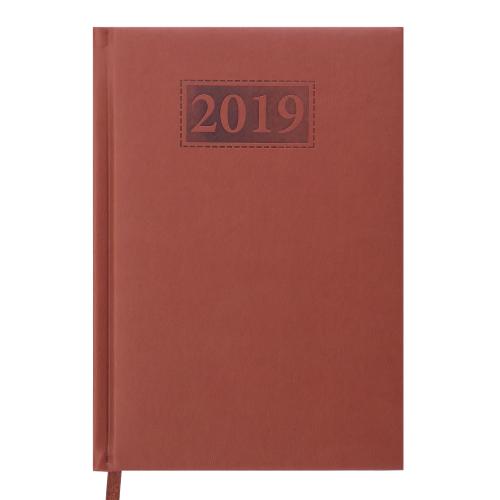 Ежедневник датированный 2019 GENTLE (Torino), A5, коричневый