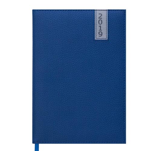 Ежедневник датированный 2019 VERTICAL, A5, 336 стр. синий
