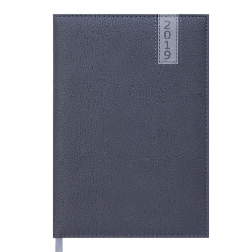 Ежедневник датированный 2019 VERTICAL, A5, 336 стр. серый