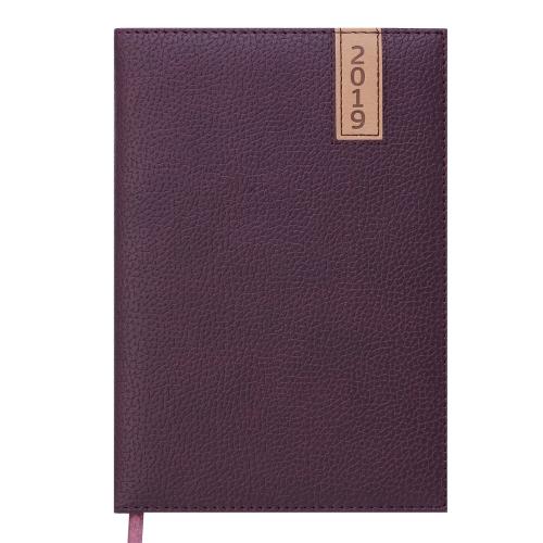 Ежедневник датированный 2019 VERTICAL, A5, 336 стр. коричневый