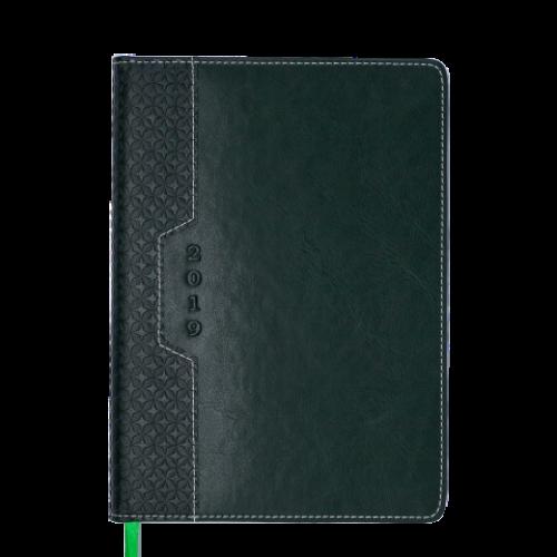 Ежедневник датированный 2019 VIENNA, A5, зеленый