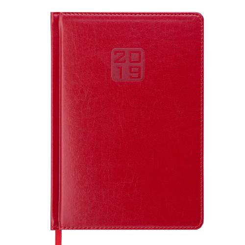 Ежедневник датированный 2019 BRAVO (Soft), A5, красный