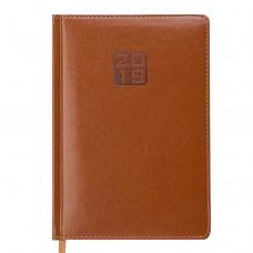 Ежедневник датированный 2019 BRAVO(Soft), A5, 336 стр., коньячный