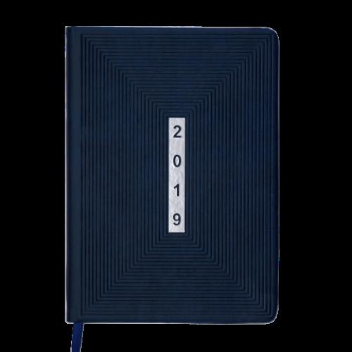 Ежедневник датированный 2019 MEANDER, A5, 336 стр., синий
