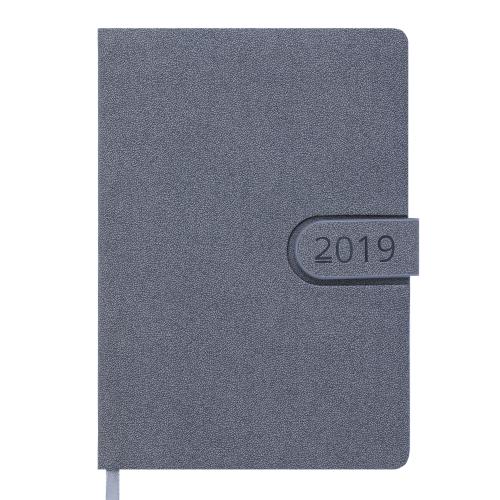 Ежедневник датированный 2019 SOLAR, A5, 336стр. серый