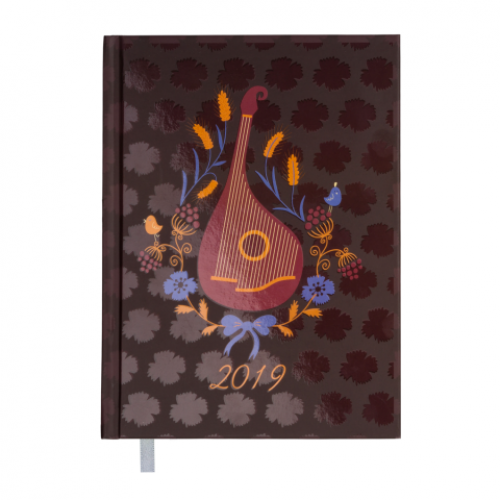 Ежедневник датированный 2019 UKRAINE, A5, 336 стр., св.-коричневый