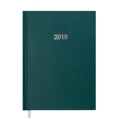 Ежедневник датированный 2019 STRONG, A5, зеленый