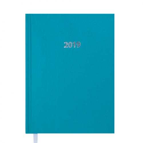 Ежедневник датированный 2019 STRONG, A5, бирюзовый