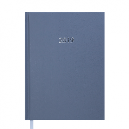 Ежедневник датированный 2019 STRONG, A5, серый