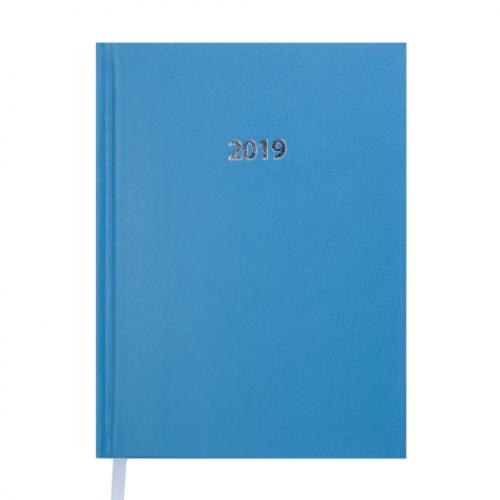 Ежедневник датированный 2019 STRONG, A5, голубой