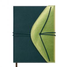 Ежедневник датированный 2019 BELLA, A5, 336 стр., зеленый с золотом