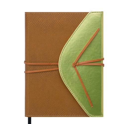 Ежедневник недатированный BELLA, A5, 288 стр., св. коричневый с золотом