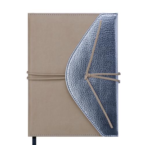 Ежедневник недатированный BELLA, A5, 288 стр., бежевый с серебром
